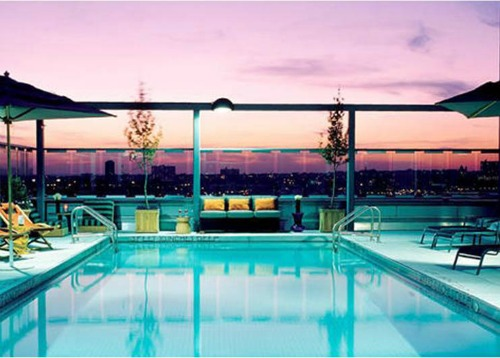 Gansevoort Hotel Meatpacking Rooftop Pool