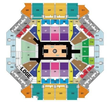Brooklyn Nets Barclays Center Seating Chart