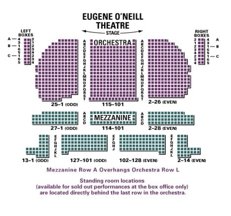 Book of Mormon Broadway Seating Chart | Eugene O'Neill Theatre