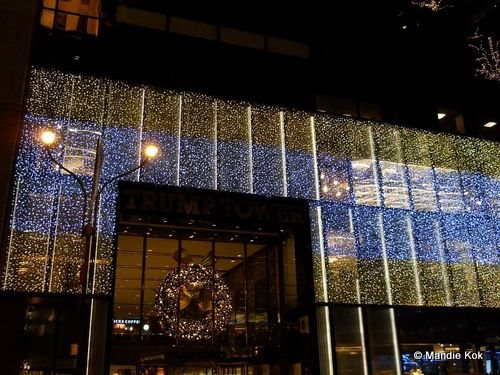 Trump Tower NYC Holiday Lights