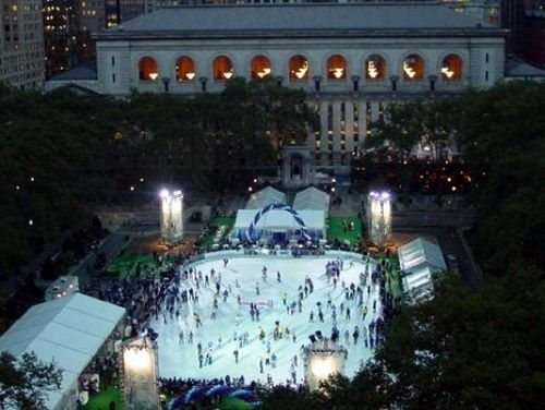 Ice Skating New York City Bryant Park