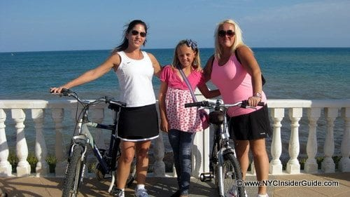 Biking Along the Coast with Connie and Angie