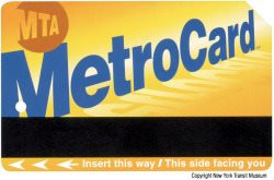 MetroCard and NYC Subway Map