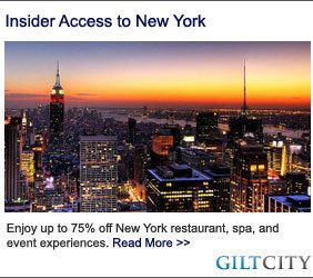 New York City Coupons Luxury Gilt City