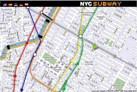 New York City Street Map Free Nyc Subway Tourist Neighborhood