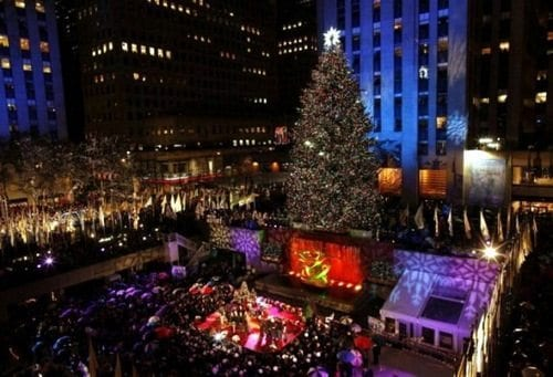 Rockefeller center christmas tree lighting 2018 best for Christmas trips to new york