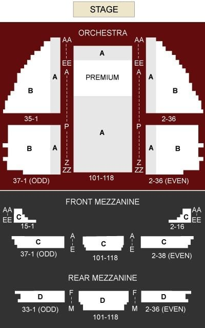 Wicked Musical Seating Chart Gershwin Theater