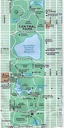 Central Park Map New York City