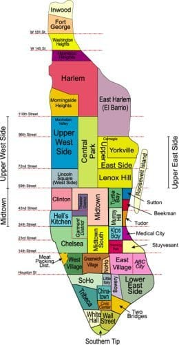 Map of Manhattan NY - Detailed New York City Tourist Maps