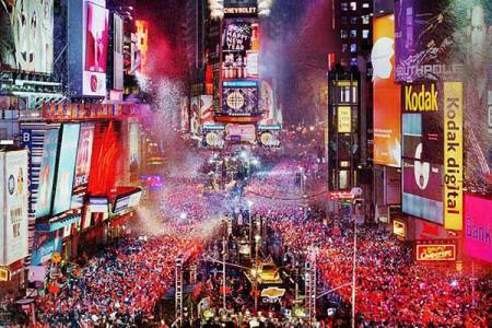 New Years Eve Times Square Ball Drop Gala Party