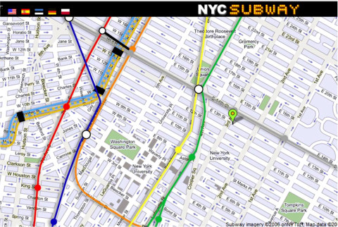 New York City Street and Subway Maps