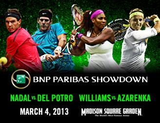 Tennis Showdown NYC BNP Paribas
