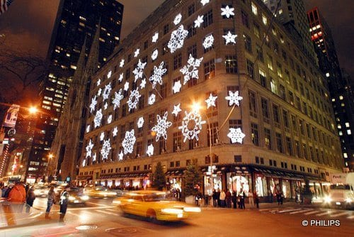 Christmas in New York City Saks Fifth Avenue