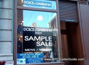NYC Sample Sales
