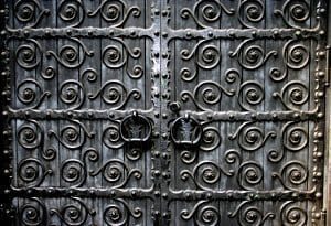Grace Church Scrollwork Doors, NYC
