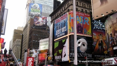 Times Square Broadway Signs