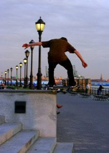 Skateboarding in New York City