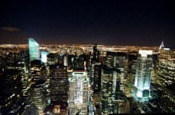 Top of the Rock Night Skyline NYC