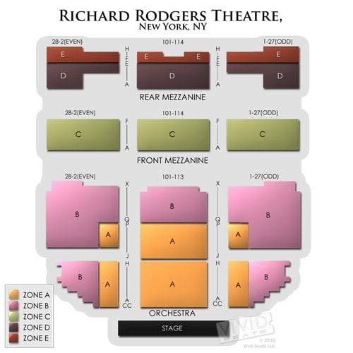 Richard Rodgers Seating Chart