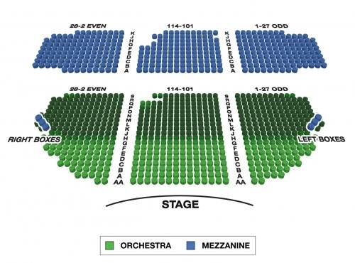 Schoenfeld Theatre Seating Chart