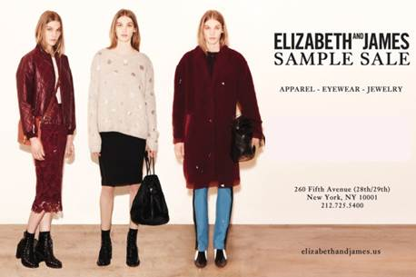 Elizabeth and James Sample Sale