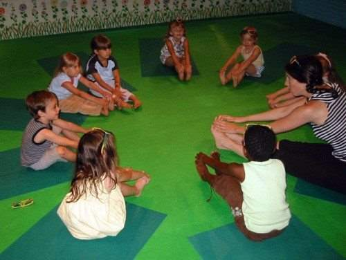 Karma Kids Yoga Sandwich Pose
