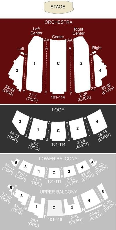 Beacon Theatre Seating Chart