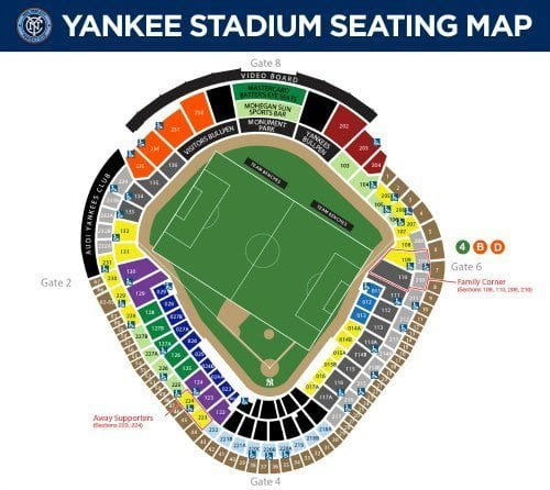 New York City Football Club Seating Chart
