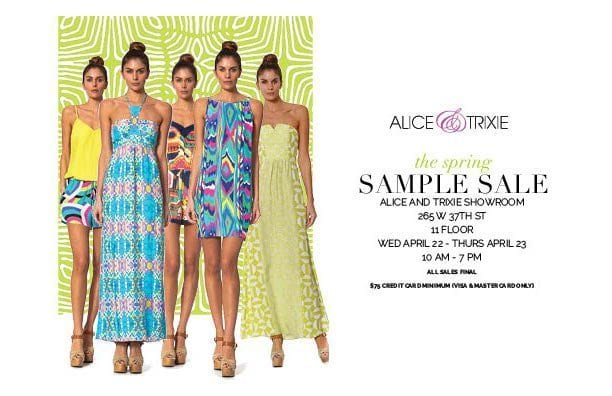 Alex And Trixie NYC Sample Sale