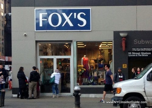 Fox's Discount Shopping NYC