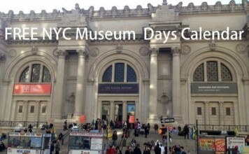 NYC Museums Free Days Calendar