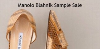 manolo blahnik sample sale november