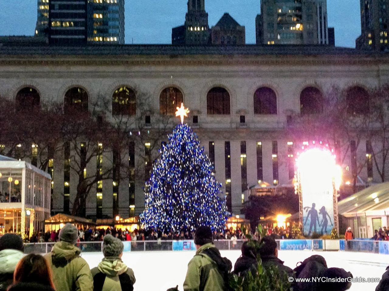 Bryant Park Christmas Tree Lighting