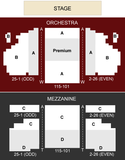 Al Hirschfeld Theatre Seating Chart
