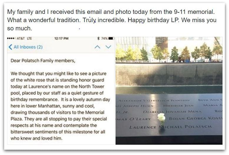 9-11 Memorial Honors Victims Birthdays