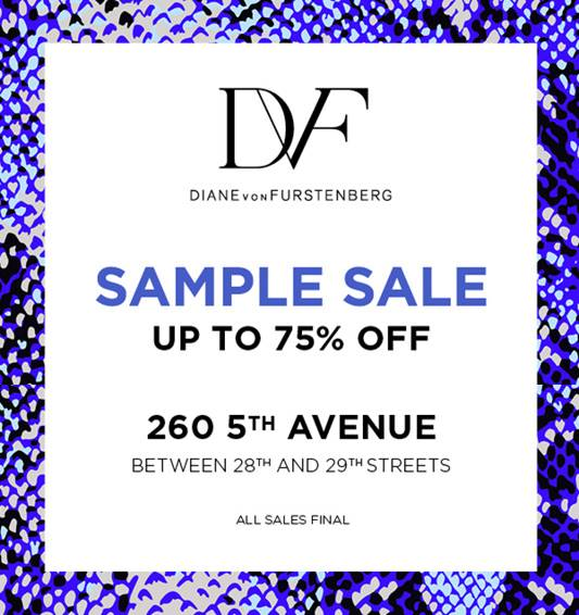 Diane Von Furstenberg (DVF) NYC Sample Sale
