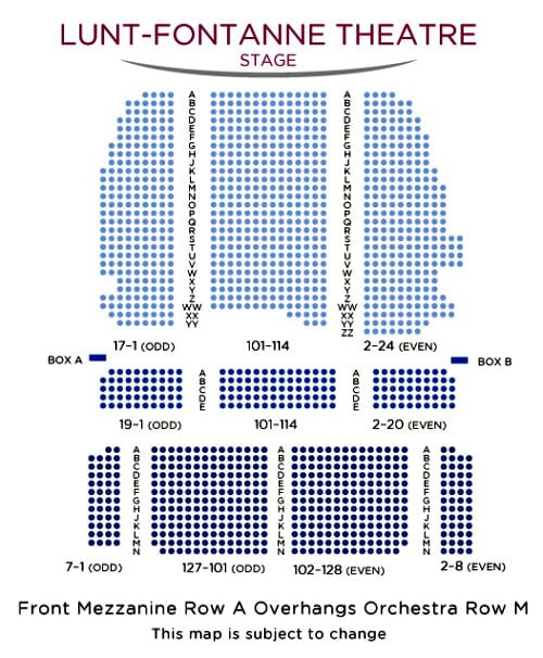 Lunt-Fontanne Theatre Seating Chart
