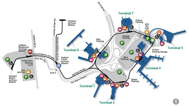 Jfk Airport Guide Hotels Free Shuttles Park N Fly