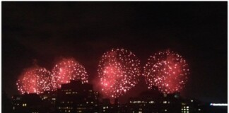 July 4th Fireworks NYC East River