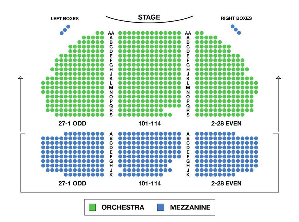 August Wilson Theatre Seating Chart