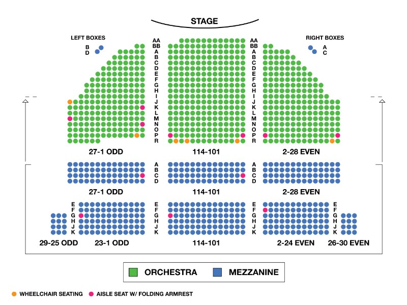 Bernard B. Jacobs Theatre Seating Chart