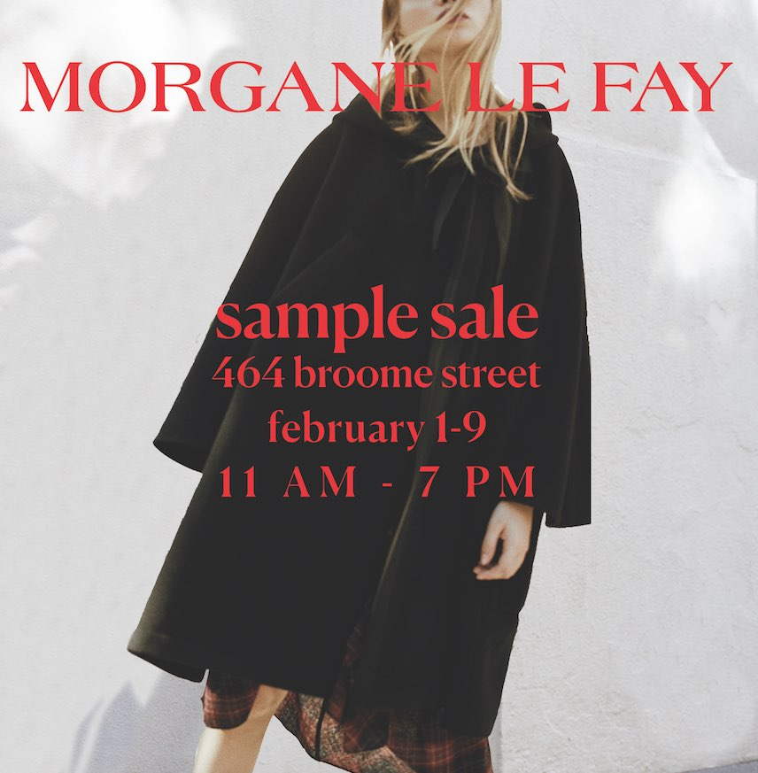 Morgane Le Fay Sample Sale 2018