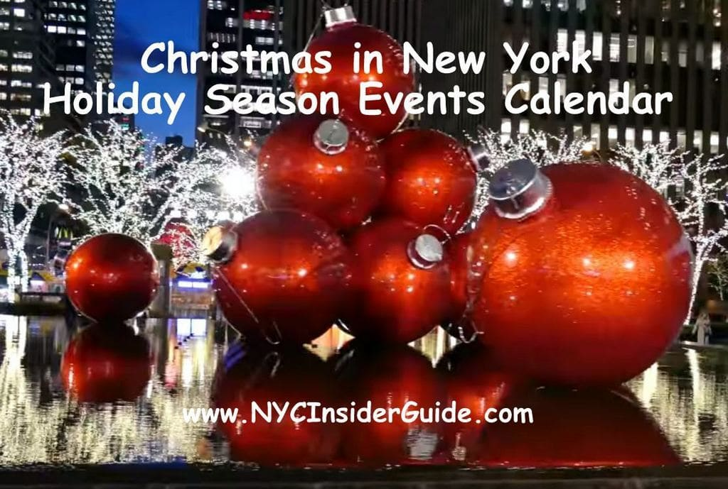 Christmas in New York Holiday Season Calendar