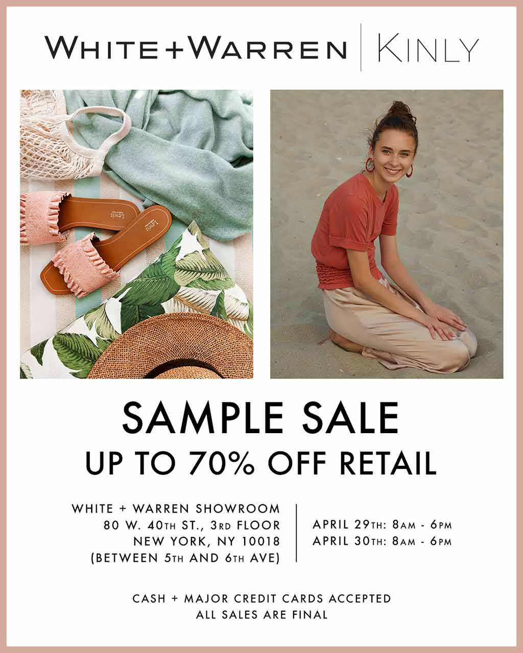 White + Warren Kinly NYC Sample Sale