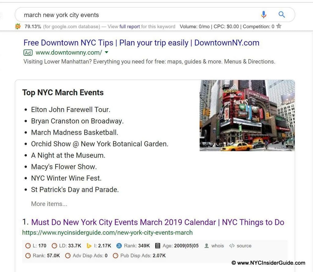 NYC Event Listings Promote