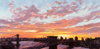 Sunrise from the Artist's Balcony NYC Art Exhibit
