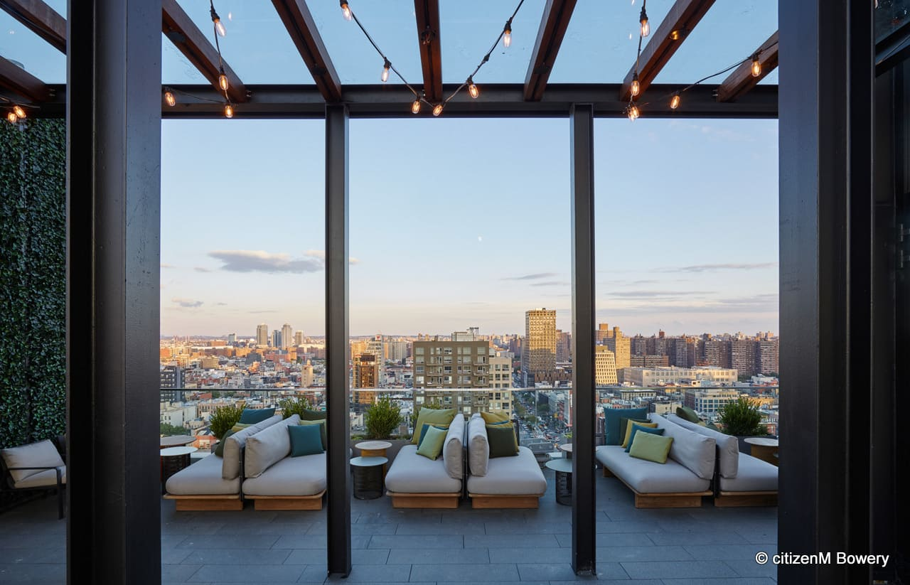 citizenM New York Bowery Hotel Rooftop