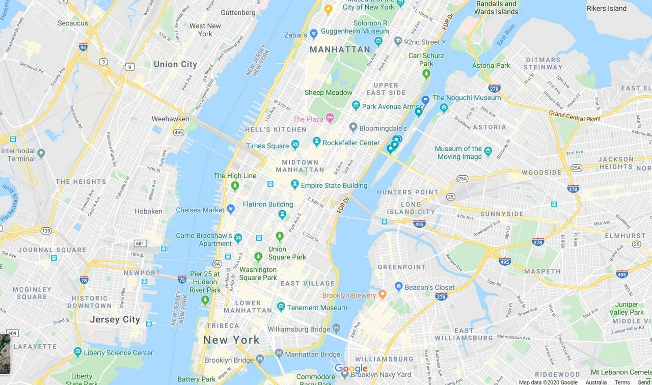 Nyc Subway And Street Map.New York City Street Map Free Nyc Subway Tourist Neighborhood