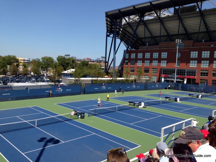 US Open Practice Courts