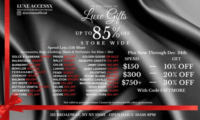 Luxe Multi Brand Gifts Sale